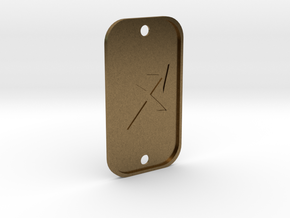 Sagittarius (The Archer) DogTag V4 in Natural Bronze