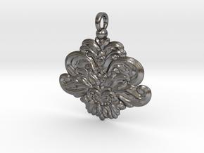 Ornamental-pendant-6cm in Polished Nickel Steel