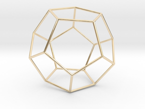Pentahedron in 14k Gold Plated Brass