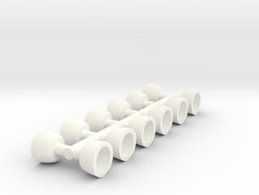 Hamburger Lights Fittings 1:24 Scale in White Processed Versatile Plastic