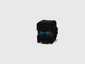 The Magnawheeler's Head G1 Toon in Smooth Fine Detail Plastic: Small