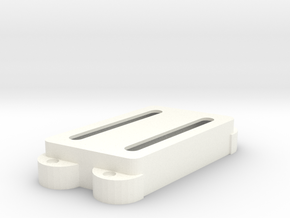 Jag PU Cover, Double, Angled, Open in White Processed Versatile Plastic