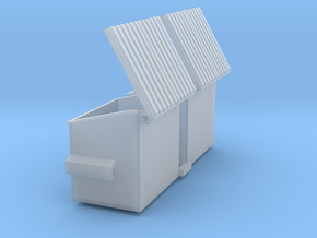 4 Yard Slant Dumpster 2 Pack 1-87 HO Scale in Smooth Fine Detail Plastic