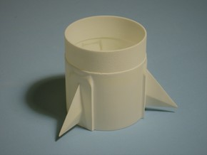 Pershing 1 BT80-1st Stage Fin Unit for 24mm motors in White Processed Versatile Plastic