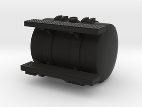 Round Fuel Tank w/ Steps in Black Natural Versatile Plastic