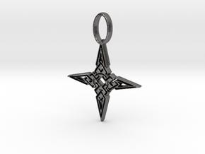 Skyrim Dawnstar Pendant in Polished Nickel Steel