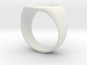 Joker's Circle Ring - Plastics in White Natural Versatile Plastic: 9 / 59