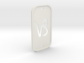 Capricorn (The Mountain Sea-goat) DogTag V2 in White Natural Versatile Plastic