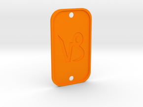 Capricorn (The Mountain Sea-goat) DogTag V4 in Orange Processed Versatile Plastic