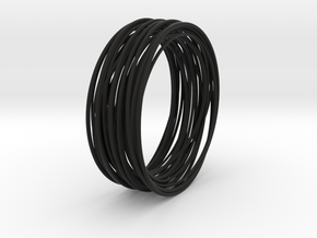 black statement bangle modern jewelry design gift  in Black Premium Versatile Plastic