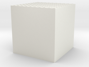 Maze 10 x 10 x 10 in White Natural Versatile Plastic