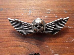 Winged Skull Pendant 6Cm in White Strong & Flexible