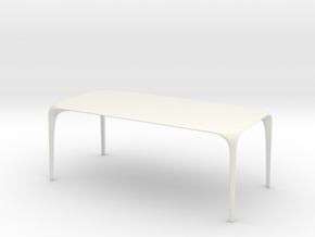 Miniature Link Table - B&B Italia in White Natural Versatile Plastic: 1:12