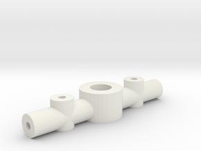 Adjustable Prop Hub - 3mm shaft 1mm blade in White Natural Versatile Plastic