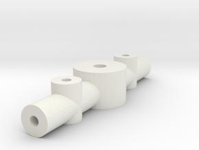 Adjustable Prop Hub - 1.5mm Shaft 1mm Blade in White Natural Versatile Plastic
