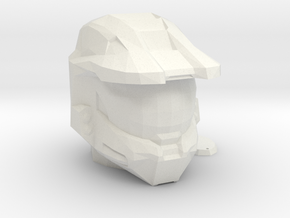 Halo Inspired Master Chief Helmet Piggy Bank in White Natural Versatile Plastic