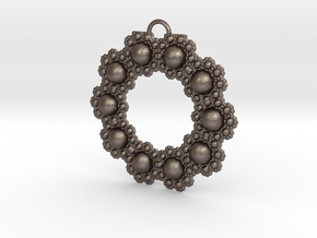Fractal Roundness in Polished Bronzed Silver Steel