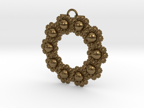 Fractal Roundness in Natural Bronze