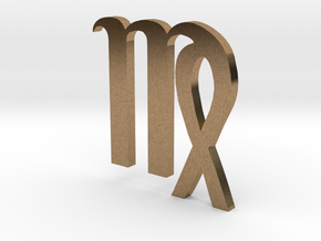 Virgo (The Maiden) Symbol in Natural Brass