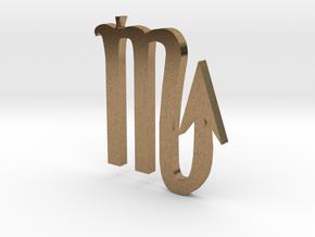Scorpion (The Scorpion) Symbol in Natural Brass
