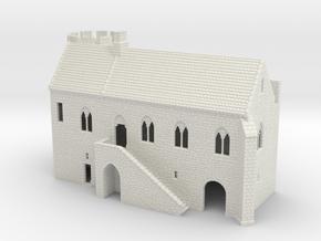 HOF051 - Medieval hall in White Natural Versatile Plastic