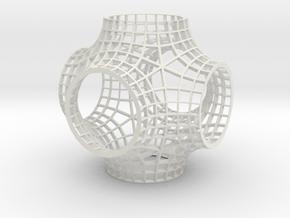 SchwarzPParallel04 in White Natural Versatile Plastic