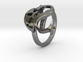 Saint Snow Twin Ring - Leah Kazuno in Polished Silver: 4 / 46.5