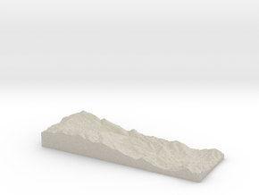 Model of Oat Hills in Natural Sandstone
