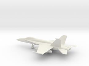 McDonnell Douglas F/A-18A Hornet in White Natural Versatile Plastic: 1:100