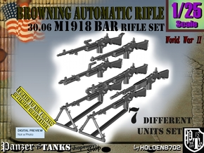 1/25 Browning BAR 1918A2 Set001 in Smooth Fine Detail Plastic