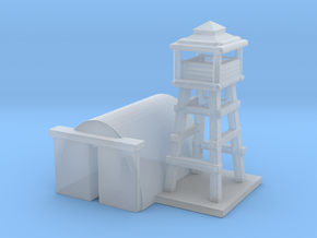 1/285 Airport Tower w/ Hanger in Smooth Fine Detail Plastic