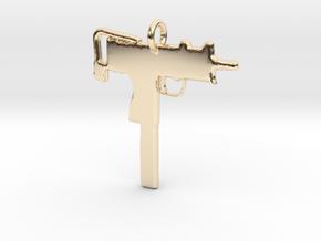 2 UZI Pendant in 14K Yellow Gold