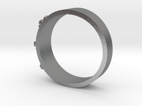 Flowerring in Natural Silver: 1.5 / 40.5