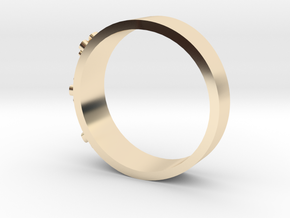 Flowerring in 14k Gold Plated Brass: 1.5 / 40.5