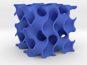 Gyroid Minimal Surface in Blue Processed Versatile Plastic