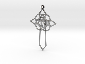 Personalised Celtic Cross Earring in Fine Detail Polished Silver
