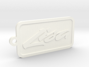 Apple Lisa keychain in White Strong & Flexible Polished