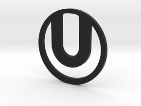 Ultra Logo Pendant in Black Natural Versatile Plastic