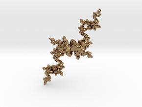Fractal Unicorn in Natural Brass