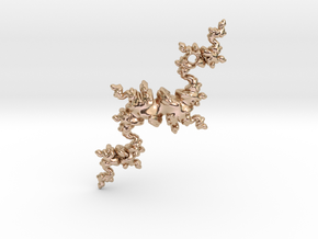 Fractal Unicorn in 14k Rose Gold Plated Brass