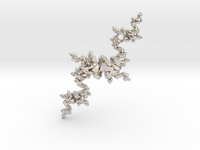 Fractal Unicorn in Rhodium Plated Brass