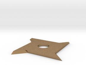 Ninja star x4 in Natural Brass: Small