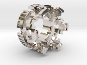 "HILT GX16 Connector Holder 1"" METAL in Rhodium Plated Brass"