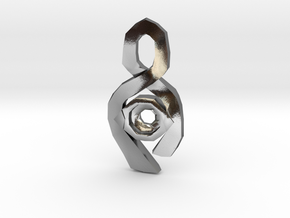 Ribbon Pendant setting for 5mm Gem in Polished Silver