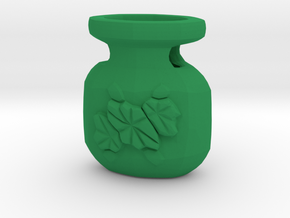 Bud Bottle Pendant - 1in tall in Green Processed Versatile Plastic