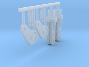1/24 scale spreader bar ends in Smooth Fine Detail Plastic