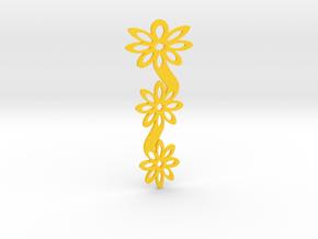 Floral bookmark - variant I in Yellow Processed Versatile Plastic