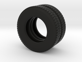 "22.5"" Dual tire pair for trucks and trailers in Black Natural Versatile Plastic"