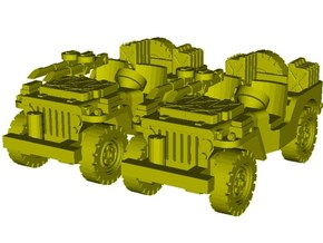 1/87 scale WWII Jeep Willys 4x4 SAS vehicles x 2 in Smooth Fine Detail Plastic