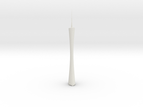 Guangzhou Tower (Test Acc) in White Natural Versatile Plastic